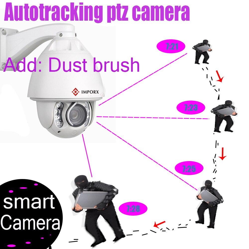 IMPORX IP Caméra Suivi Automatique 1080 P 20X ZOOM P2P IR 150 M Avec D'essuie-Glace PTZ IP caméra de sécurité à domicile de Surveillance Avec miscroSD Carte