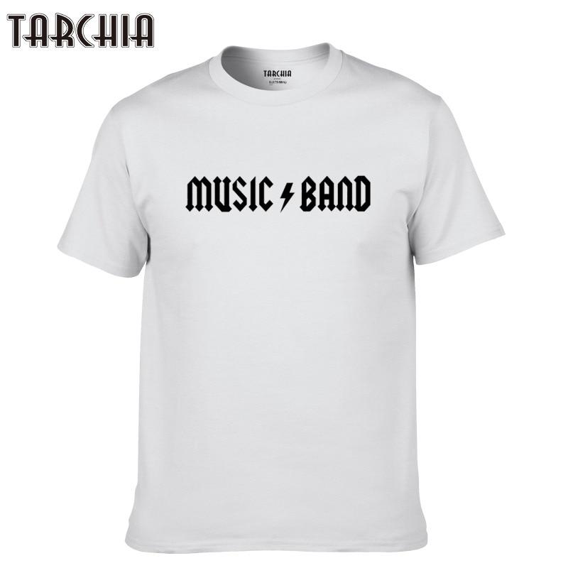 TARCHIA casual men short sleeve boy new brand t-shirt cotton t shirt music band plus male print top tee homme tshirt 2018