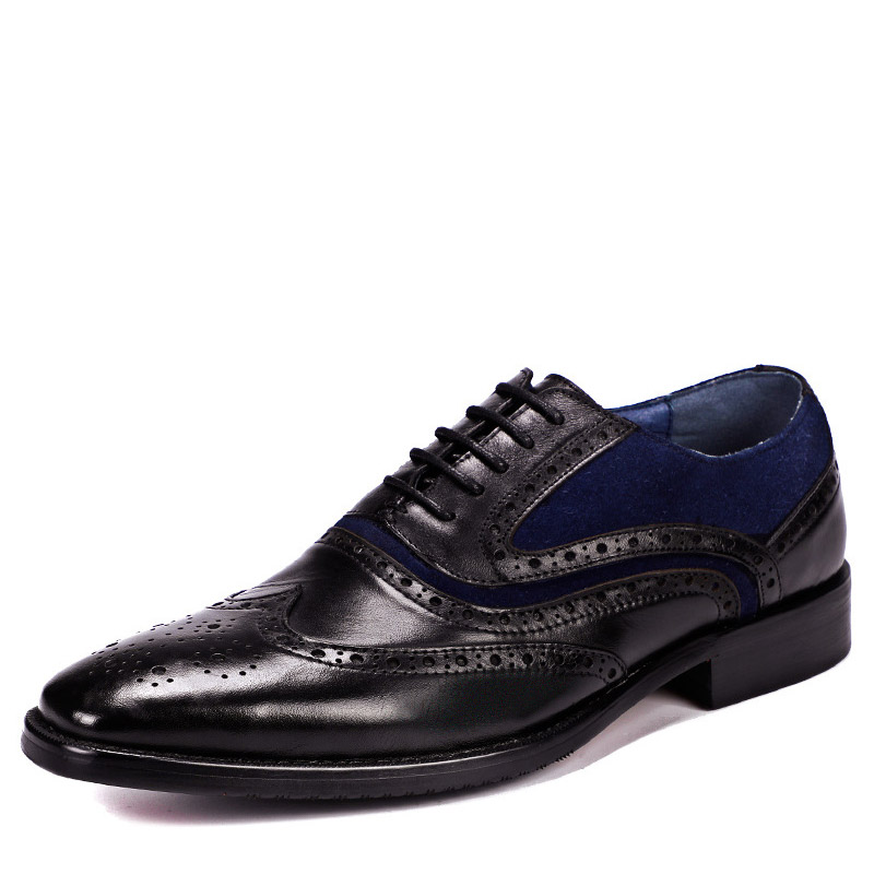 2019 Brand Genuine Leather Men Luxury Dress Shoes Brown Black Lace Up Oxford Party Wedding Men Shoes Formal Business Shoes2019 Brand Genuine Leather Men Luxury Dress Shoes Brown Black Lace Up Oxford Party Wedding Men Shoes Formal Business Shoes