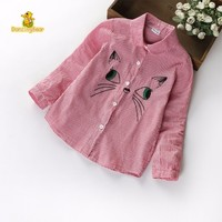 DancingBear Spring Children S Garment Long Sleeve Casual Cartoon Kitten Blouses Shirts Women Cotton Cardigan Girls