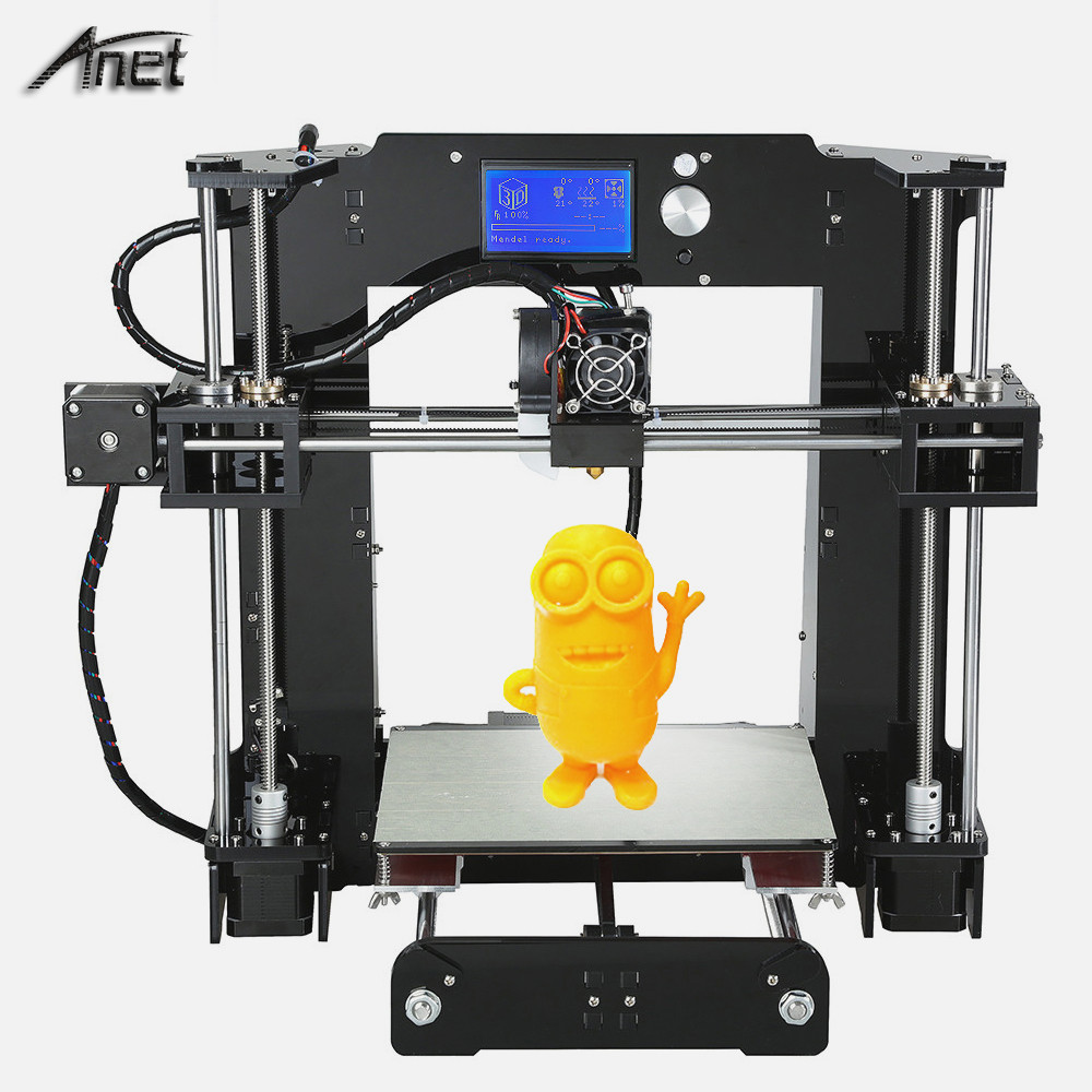 Haute précision Anet A6 3d imprimante grande taille d'impression 3d 3d métal imprimante machine pla 3d filament avec filaments PLA gratuit