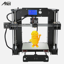 High precision Anet A6 3d printer large 3d printing size 3d metal printer machine pla 3d filament with free PLA filaments 2018 flsun 3d printer large size 240 240 260mm pre assembly prusa i3 3d printer metal parts heatbed support free pla filament