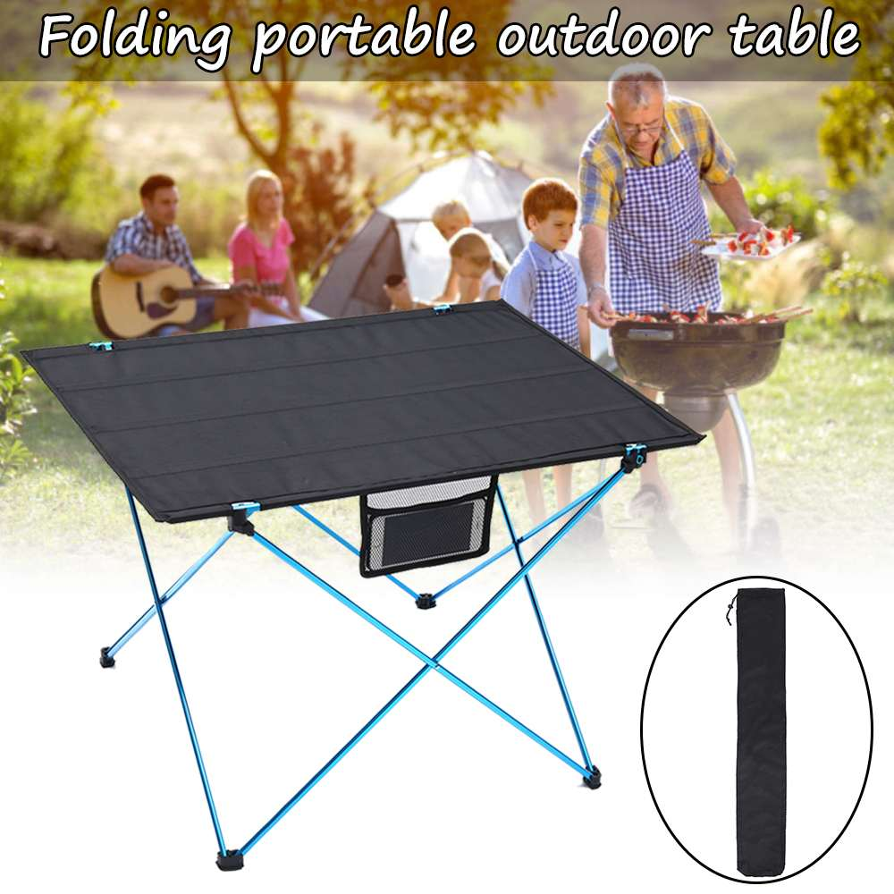 Foldable Camping Table Seat Mat Portable Aluminium Alloy Ultra-light Outdoor Picnic Furniture Folding Desk For Travel Beach BBQ