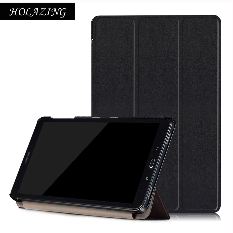 Ultra Slim PU Leather Case For Samsung Galaxy TAB A 10.1 P580N/P585N(with S pen) Smart Magnetic Design Cover ultra thin smart flip pu leather cover for lenovo tab 2 a10 30 70f x30f x30m 10 1 tablet case screen protector stylus pen
