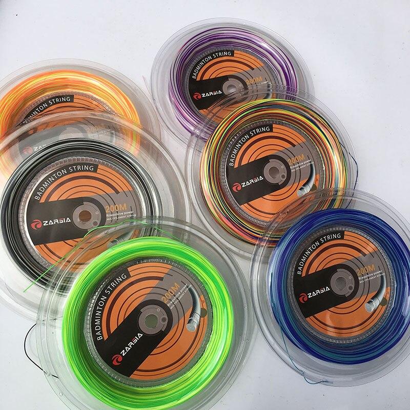 Zarsia 1 Катушка 200 большой браслет 0.7 мм Радуга Бадминтон строки натяжения 28lbs 6 видов цветов