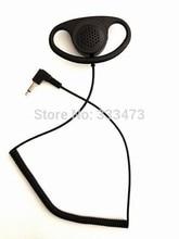 2PCS HYS TC-001D Good performance Black Only listen headset Ear hook singal two way rado earphone