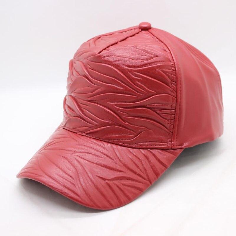 Women Hats Baseball-Cap Casquette Snapback Trucker-Cap Fall Black New-Fashion PU