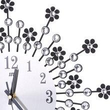 Retro Design Wall Clock Radial Flower 3D Iron Decorative Clock