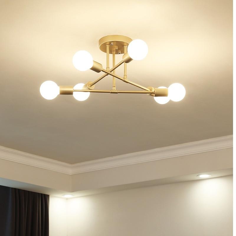 מודרני LED תקרת נברשת תאורת סלון חדר שינה נברשות Creative בית תאורת גופי AC110V/220 v משלוח חינם