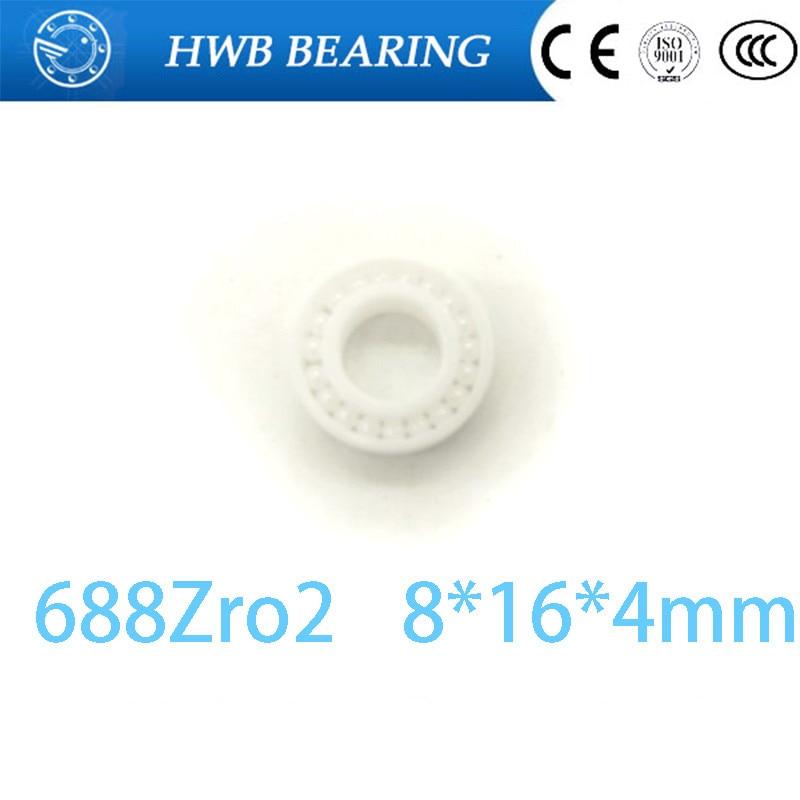Free Shipping CE688 full ZrO2 balls 8x16x4mm ZrO2 Full Ceramic Bearings  Full Complement 688 open 8*16*4 mm