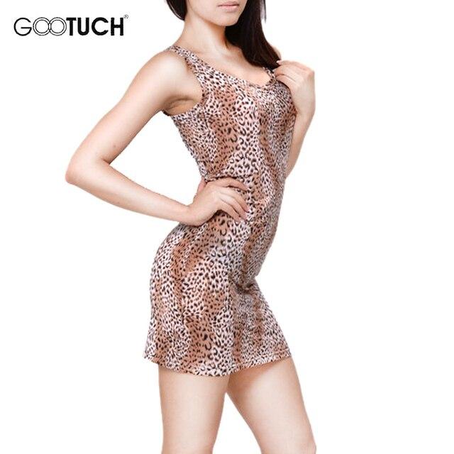 24f2a9104 Summer Women s Sexy Nightgown Leopard Print Lounge Nightdress Sleepwear  Sleeveless Casual Nightwear Leopard Sleepshirts 7244