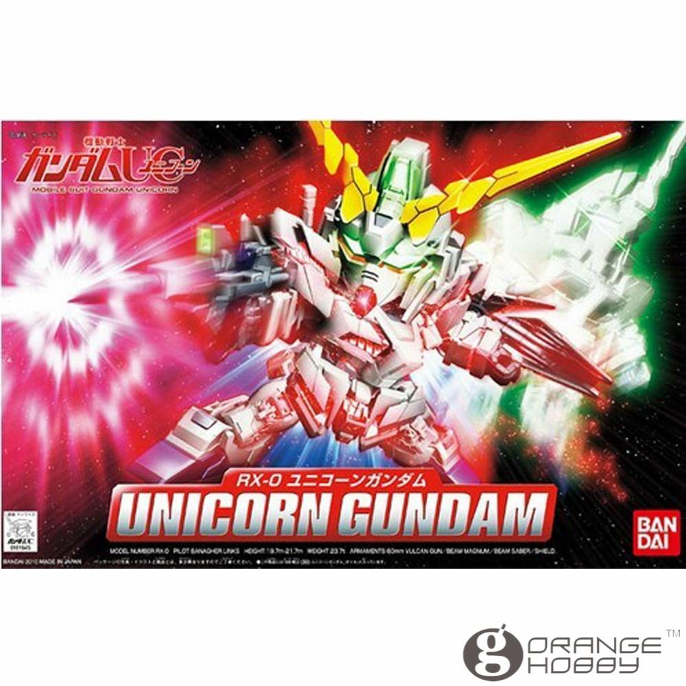 OHS Bandai SD BB 360 Q-Ver Unicorn Gundam Mobile Suit Assembly Model Kits oh bandai bandai gundam model sd q version bb 309 sangokuden wu yong bian xiahou yuan battle