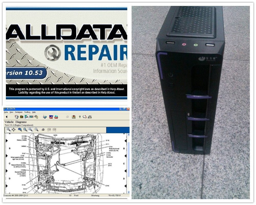 Alldata Software 10.53 alldata auto repair Software + 2014 mitchell software installed in 2TB HDD in Mini coumputer ready use