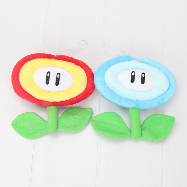 15 Cm Super Mario Bros Fleur De Glace Feu Fleur En Peluche En