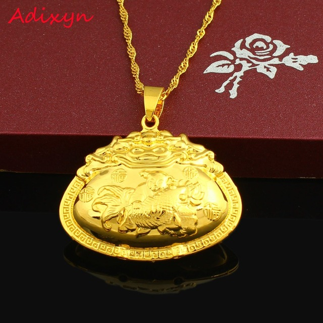 Adixyn India Desigh Pendant For Kids Girls Boy Gold Filled Necklace Jewelry Baby