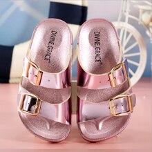 Nouveau enfants pantoufles filles garçons chaussures d'été plage pantoufles enfants pantoufle enfants chaussures garçons filles sandales de haute qualité