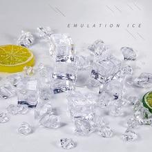 30 adet/grup şeffaf buz yapay buz renkli ezilmiş buz bira viski Soda içecek fotoğraf sahne DIY süslemeleri