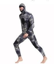 3MM Neoprene Camo Spearfishing Wetsuit Full Body Sunblock Wetsuit for Water Sport Rashguard Men Beach Bathing Swimsuit Plus Size