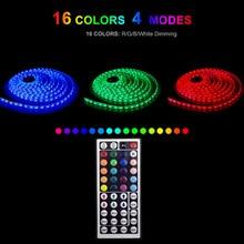LED Strip 220V 20 Color RGB 5m 10m 15m 5050 flexible LEDs Lighting Tape Diode Ribbon DC 12V power adapter set