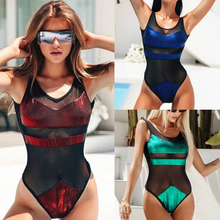 2019 New One Piece Swimsuit Backless Sexy bikini Lace Swimwear Women Bathing Suit Monokini Push Up Mujer Brazilian M171