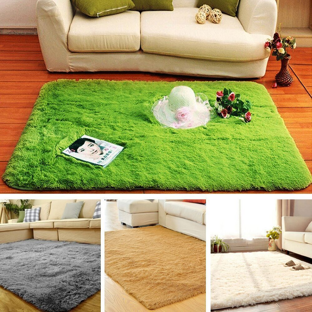 80120cm Large Size Fluffy Rugs Anti Skid Shaggy Area Rug Dining Room Carpet