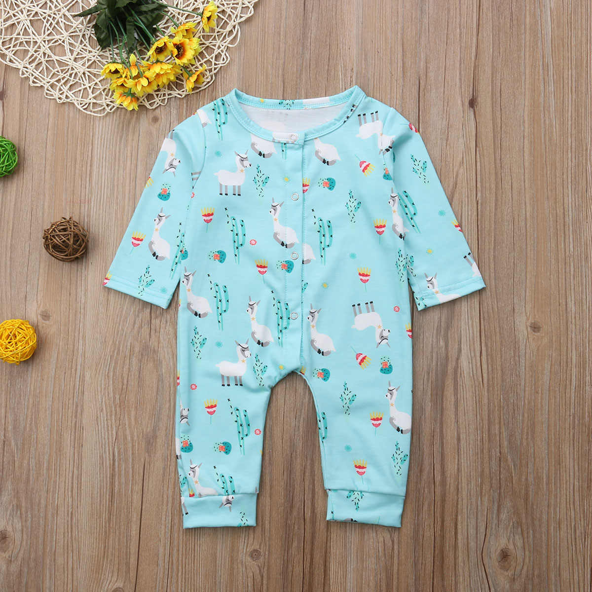 e3f2d8058f ... Lovely Newborn Baby Boys Girls Blanket Sleeper Fashion New Long Sleeve  Animal Print Pajamas Casual Cotton ...