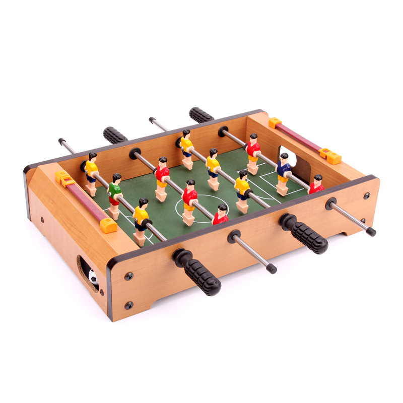 ALHGWJ13  Wooden table football bar entertainment game table children home parent-child interaction game kid gifts hot sell desktop manual indoor football machine parent child sports interactive toys table ball game machine