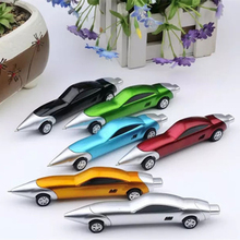 1PCS Funny Novelty Racing Car Design Ball Pens Portable Creative Ballpoint Pen Quality for Child Kids Toy Office School Supplies