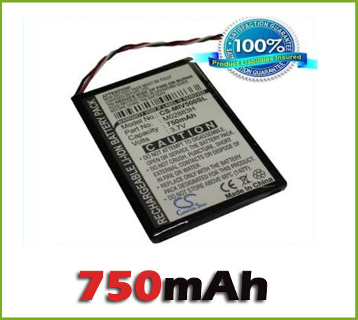 Wholesale GPS <font><b>Battery</b></font> For Mitac For Mio Moov 500, 510, 560, 580 (<font><b>750</b></font> <font><b>mAh</b></font>)