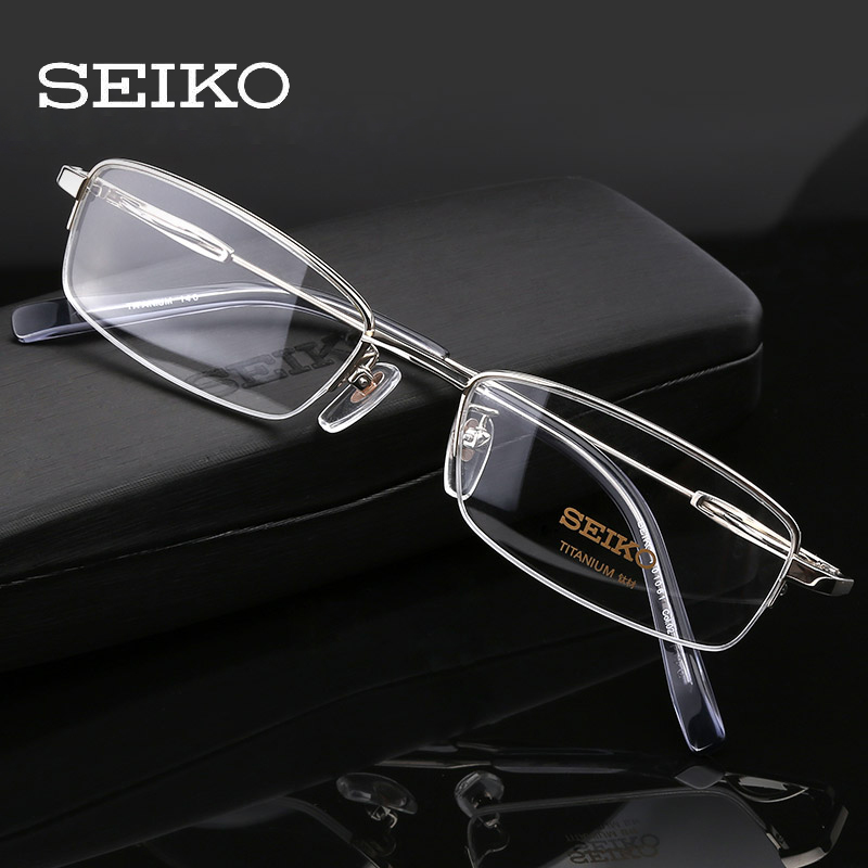 SEIKO Titanium Prescription Glasses Men Transparent Glasses Frames Ultralight Correction Eyeglasses Frames for Men H01061