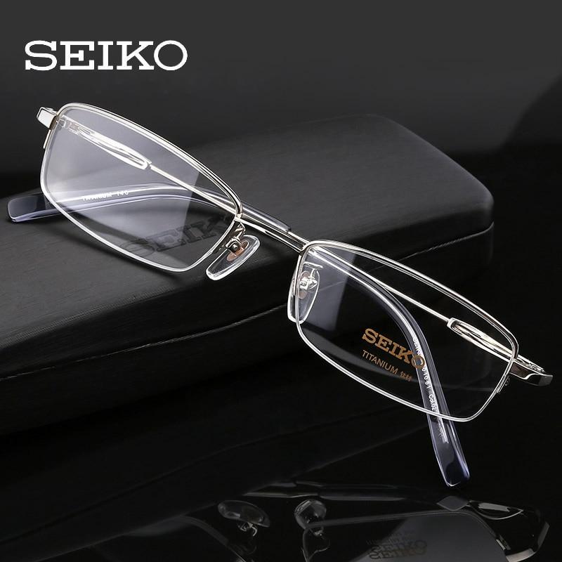 SEIKO Titanium Prescription Glasses Men, Optical Glasses Frames Light Correction Eyeglasses Frames For Men H01061