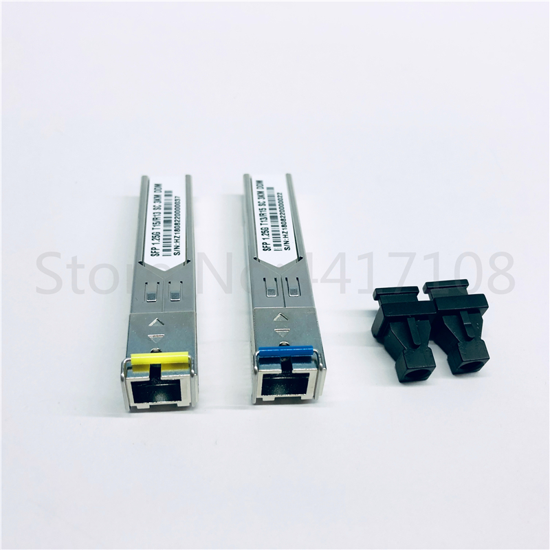 10pcsSC Connector 1 25Gbps 3km DDM BIDI Otdr optical tranceiver module 1310nm 1550nm WDM SFP Module