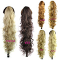 75CM Magic Curly Ponytail Hairpieces False Hair Tails 220g Artificial Synthetic Tress Drawstring Fake Hair Claw In Pony Tail