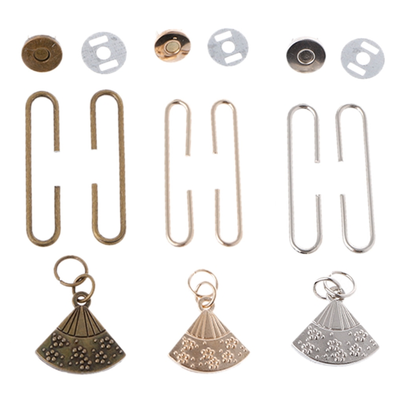 THINKTHENDO Fan-shaped Metal Coin Purse Bag Frame Clasp Lock Bags Hardware Accessories