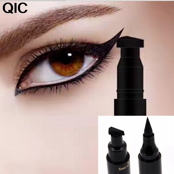 Eyeliner Sexy Double Head Black Eyeliner Wing Shape Seal Waterproof Liquid Eyeliner Pencil Cat Eye Cosmetic Tool Quick Makeup