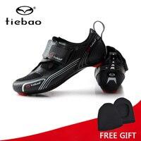טריאתלון אופני כביש נעלי רכיבה מקצועיות אופניים Tiebao עצמי נעילת חיצוניים לנשימה גברים נעלי ספורט סניקרס Zapatillas