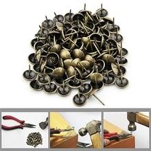 100 шт античные латунные бронзовые обивочные гвозди для ювелирных изделий подарок чехол для вина коробка для дивана декоративные Прихватки шпильки для дверных гвоздей фурнитура для июля