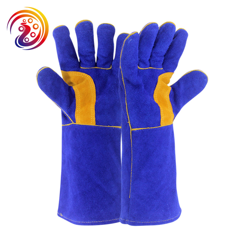 цена на OLSON DEEPAK Cow Split Leather Long Welding Glove Barbecue Carrying Factory Gardening Protective Work Gloves HY037