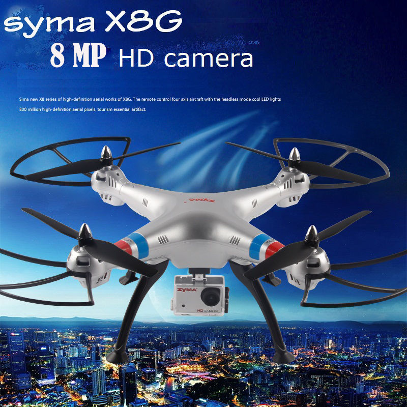 SYMA X8G 8MP Wide Angle Camera HD Quadcopter 2.4G X8C Drone with Camera HD UAV RTF RC Helicopter Dron RC Toys Free shipping high quality syma x8c 2 4ghz 6 axis gyro uav rtf ufo with wide angle 2mp hd camera rc drone quadcopter helicopter