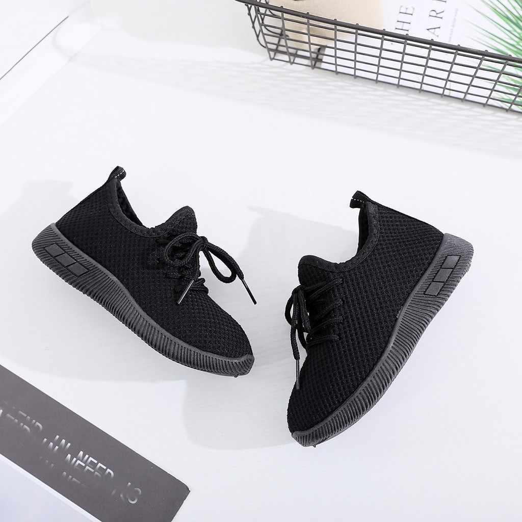 Fashsiualy 2019 çocuk kız ve erkek spor ayakkabılar moda bebek çocuk bebek kız erkek katı spor koşu ayakkabıları rahat ayakkabılar