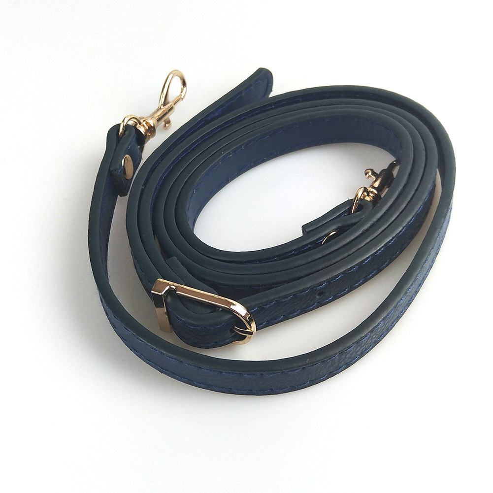 120cm Leather Shoulder Bags Strap Accessories DIY Crossbody Adjustable PU Bag Belts Strap Black Handbag Strap Sliver Gold Buckle
