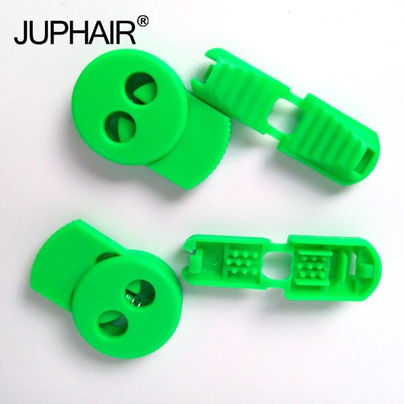 JUP1-50 Sets Light Green Magnetic Elastic Shoes Buckles Decorative Buckles Child Adult Closures No-tie Shoelaces Never Tie Laces