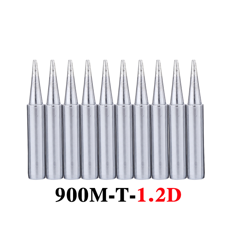 10Pcs/lot 900M-T-1.2D Soldering Iron Tip Lead-free Welding Sting Solder Tips For 936 BGA Soldering Rework Station