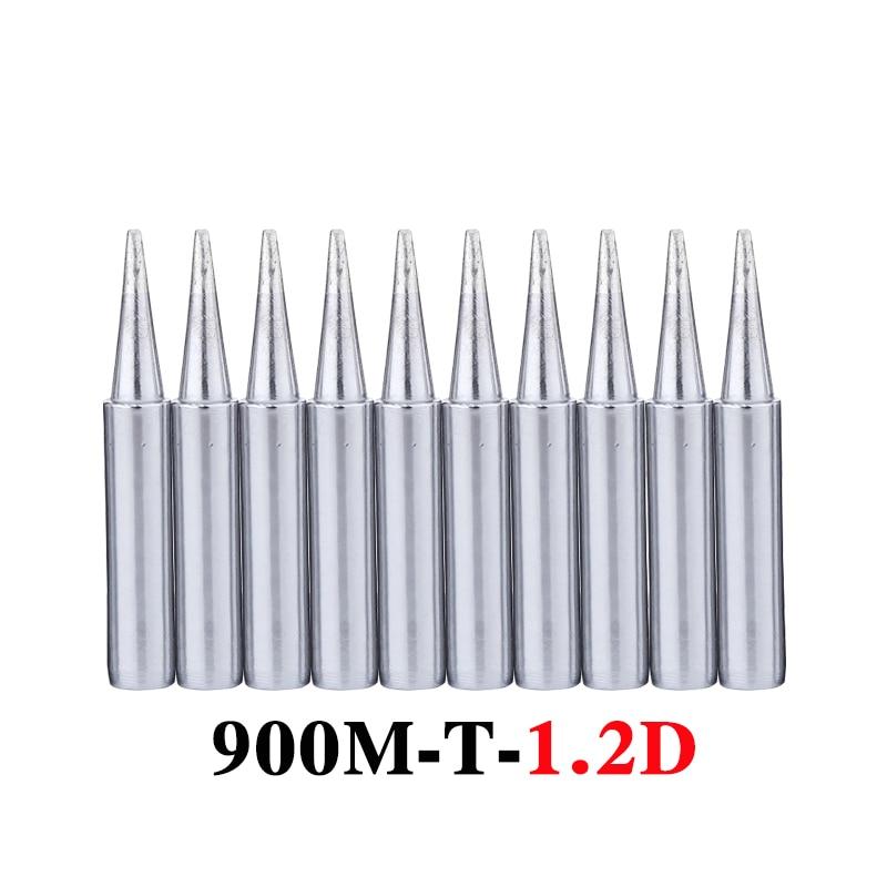 10Pcs/lot 900M-T-1.2D Soldering Iron Tip Lead-free Welding Sting Solder Tips For 936 BGA Soldering Rework Station