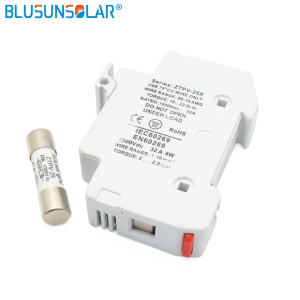 BULSUNSOLAR 1000V DC PV Fuse holder 10x38mm gPV inline Fuse, with LED for Solar System Protection CE(China)