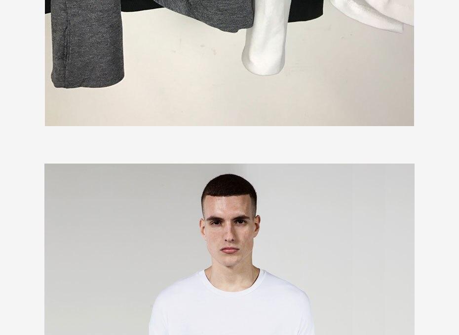 TRIASIADEE Justin Bieber Kanye West Bottoming Shirt Sleeved Mens Oversize T Shirt Hip Hop Streetwear