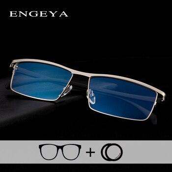 Aluminium Frame Optische Mannen Recept Brillen Business Merk Designer Clear Bijziendheid Computer Bril Frame #001