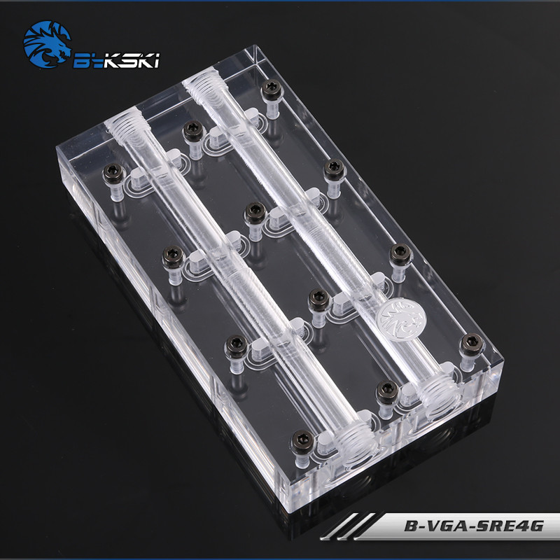 Bykski Multi card Faucet Bridge Module Water Block Tandem Square Head B VGA SRE4G