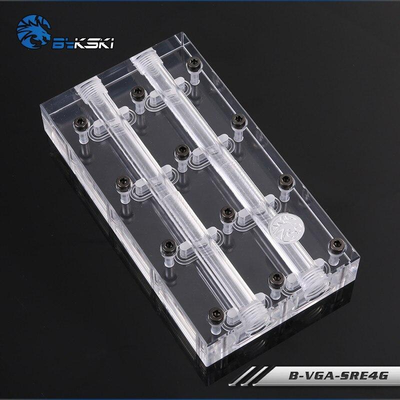 Bykski нескольких карт кран мост модуль воды блок тандем с квадратным носком B-VGA-SRE4G