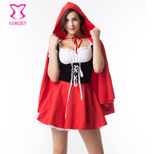 Halloween Party Game Cosplay Clothing Adult Fancy Dress Sexy Costumes Plus Size Little Red Riding Hood Costume For Women S-4XL
